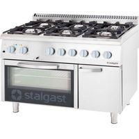 Piece i płyty grzejne gastronomiczne, Kuchnia gazowa 36,5 kW z piekarnikiem elektrycznym 600x400 STALGAST 9718230