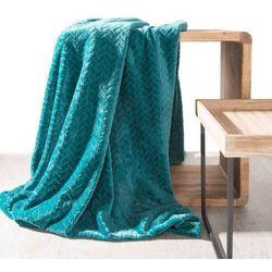 Koc narzuta na fotel CINDY 70x160 ciemny turkus