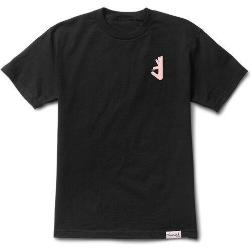 T-shirty męskie, koszulka DIAMOND - Hand Tee - Skatecore Black (BLK)