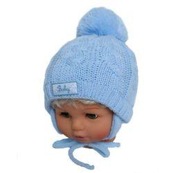 Zimowa czapka niemowlęca z szalikiem, rozmiar: 6 miesięcy - 1,5 roku