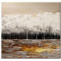 Obrazy, ręcznie malowany, grubo fakturowany obraz nowoczesny 80x80cm rabat 40%