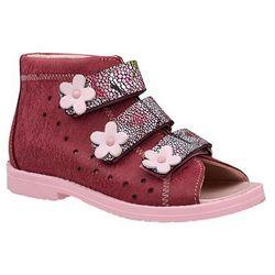 Sandałki Profilaktyczne Ortopedyczne Buty DAWID 1042 Bordowe BKP - Bordowy ||Różowy