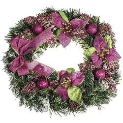 HTH Wieniec świąteczny z poinsecją śr. 30 cm, różowy