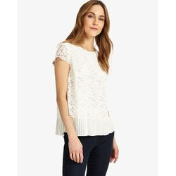 Phase Eight Lexie Pleated Lace Blouse