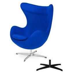 Fotel Jajo EGG CLASSIC - 3 kolory nóżek - wełna - Atramentowy niebieski
