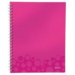 """Notatnik z przekładkami """"Get Organised"""" LEITZ WOW A4 w kratkę różowy"""