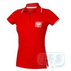 BPOL159w: Polska - koszulka polo damska