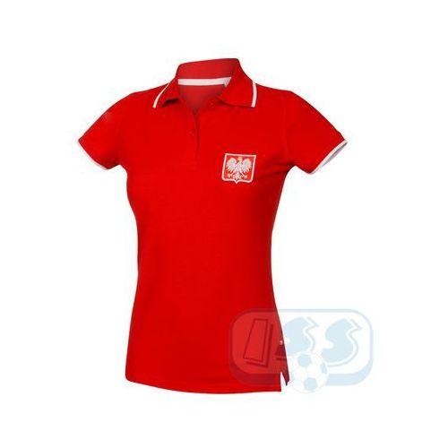 T-shirty damskie, BPOL159w: Polska - koszulka polo damska