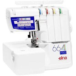 Overlock Elna 664 Pro - profesjonalny 2,3, 4 - nitkowy overlock + programator ściegów + łatwe nawlekanie + 5 lat Gwarancji