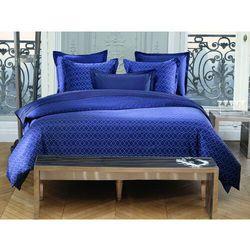 Pościel AZZARO z bawełnianego perkalu BEAUMONT - poszwa na kołdrę 200 x 200 cm + 2 poszewki na poduszkę 65 x 65 cm - Kolor niebieski