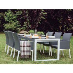 Stół ogrodowy 210 x 90 cm szary z białym BACOLI