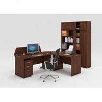 Pozostałe meble biurowe, Zestaw mebli biurowych MIRELLI A+, typ A, orzech