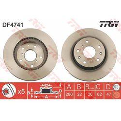 TARCZA HAM TRW DF4741 FIAT SEDICI 1.6 16V, 1.6 16V 4X4 06-