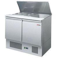 Szafy i witryny chłodnicze, Lada chłodnicza sałatkowa 2-drzwiowa z pokrywą uchylną S-900