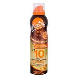 Malibu Continuous Spray Dry Oil SPF10 preparat do opalania ciała 175 ml dla kobiet