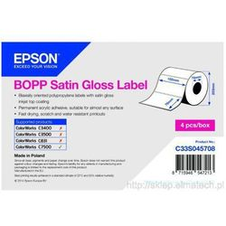 BOPP Satin Gloss Label - Die-cut Roll: 102mm x 76mm, 1890 etykiet