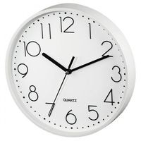 Zegary, Hama Zegar ścienny PG-220 biały low-noise