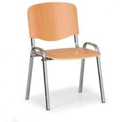 Drewniane krzesło ISO, buk, kolor konstrucji chrom, nośność 150 kg