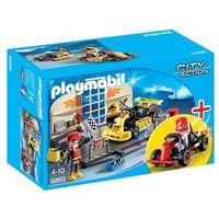 Klocki dla dzieci, Playmobil CITY ACTION Warsztat gokartowy 6869
