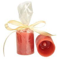 Świeczki, Dekoria Świeca woskowa LED czerwona wys. 6,5cm -50%, 6,5 cm