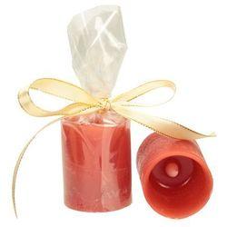 Dekoria Świeca woskowa LED czerwona wys. 6,5cm -50%, 6,5 cm