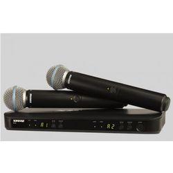 Shure BLX288/B58 BETA Wireless mikrofon bezprzewodowy podwójny Beta 58 Płacąc przelewem przesyłka gratis!
