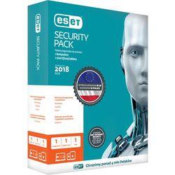 ESET Security Pack BOX3+3 smartfon licencjana 2L ESET Security Pack BOX 3 - desktop + 3 - smartfon - licencja na 2 lata. Licencja uprawnia do pobrania najnowszej, dostępnej wersji programu ochrona 3 komputerów i 3 smartfonów! Informujemy, że w przypadku licencji wielostanowisk