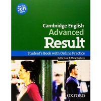 Książki do nauki języka, Cambrigde English Advanced Result SB & Online Practice 2015 (opr. miękka)