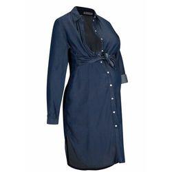 Sukienka ciążowa i do karmienia, TENCEL™ Lyocell bonprix ciemnoniebieski