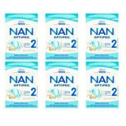 Zestaw 6x NESTLE NAN OPTIPRO 2 800g Mleko następne w proszku dla dzieci od 6 miesiąca Karton