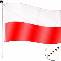 MASZT FLAGOWY 6,5M ALU MASZT DO FLAGI + FLAGA PL