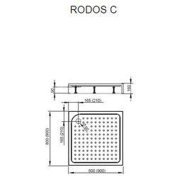 Brodzik kwadratowy akrylowy ze zintegrowaną obudową Radaway Rodos C 90x90x16,5 - 4K99155-04