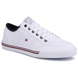 Tenisówki TOMMY HILFIGER - Core Corporate Textile Sneaker FM0FM02676 White YBS