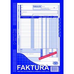 Faktura VAT wzór pełny dla osób prowadzących sprzedaż w cenach netto MiP 101-1E A4