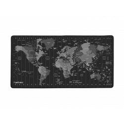 Podkładka pod myszkę Natec Time Zone Map Maxi 800x400x3 z motywem mapy