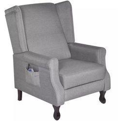Fotel masujący, elektryczny, regulowany, materiałowy, szary