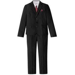 Garnitur + koszula + krawat (4 części) bonprix czarno-biały