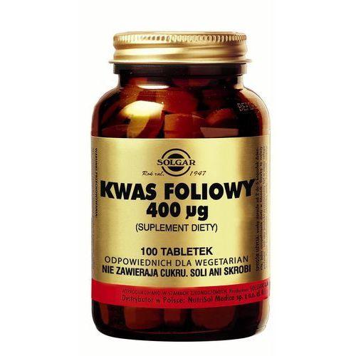 Witaminy i minerały, SOLGAR KWAS FOLIOWY HIPOALERGICZNY, 100 tabletek