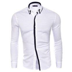Koszula męska długi rękaw rl19 - biały