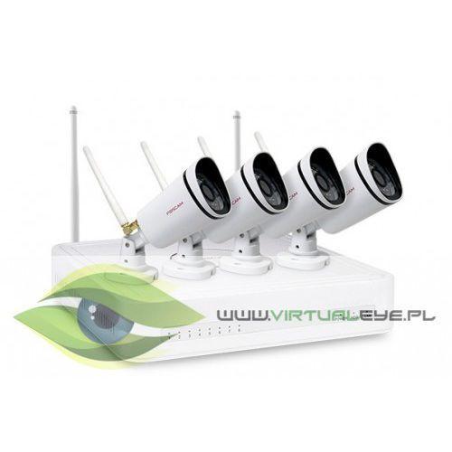 Zestawy monitoringowe, ZESTAW DO MONITORINGU 4X720P WIFI IP FOSCAM FN3104W-B4-1T (1XNVR FN3104WIFI, 4XFI9800W, HDD 1TB)