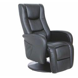 Fotel Pulsar czarny z funkcją masażu kolor czarny