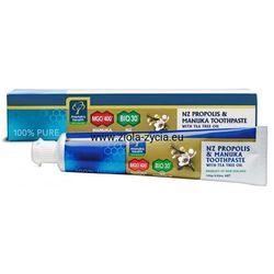 Pasta do zębów z Miodem Manuka MGO™ 400+, Propolisem BIO30™ i olejkiem z Drzewa Herbacianego (100 g) Manuka Health