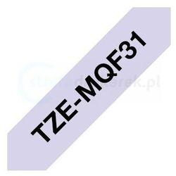 Oryginalna taśma Brother TZe-MQF31 12mm x 4m fioletowa/czarny nadruk