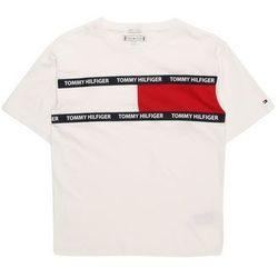 TOMMY HILFIGER Koszulka 'U FLAG TEE S/S' niebieska noc / czerwony / biały