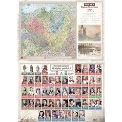 Mapa Polski A2 Laminowana Regiony Hist. ART-MAP
