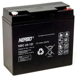 Akumulator AGM NERBO NBC 24-12i (12V 24Ah)