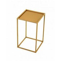 Stojak metalowy, złoty kwietnik loft 40 cm