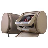 """Monitory samochodowe, NVOX Zagłówek multimedialny LCD 7"""" HD z DVD USB SD GRY IR FM"""