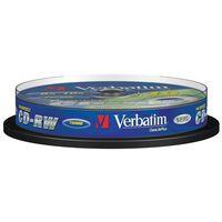 Pozostałe nośniki danych, Verbatim CD-RW [ cake box 10 | 700MB | 12x ] - 43480- Zamów do 16:00, wysyłka kurierem tego samego dnia!