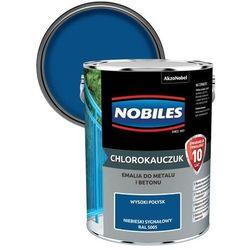 Emalia chlorokauczukowa Nobiles do metalu i betonu niebieska sygnałowa 5 l